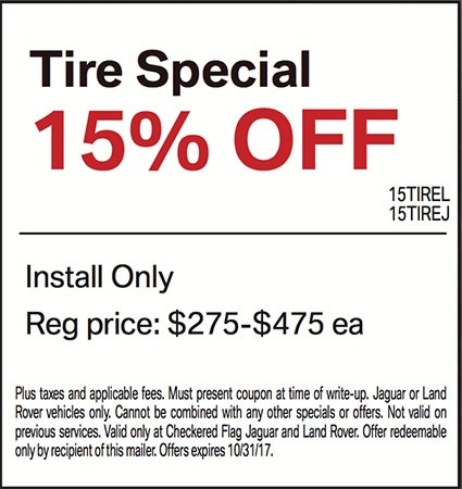 15% OFF Land Rover Tires