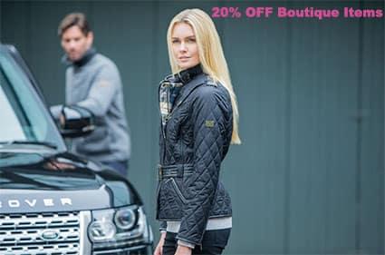 20% OFF Jaguar and Land Rover boutique items.