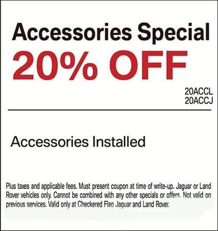 20% OFF Genuine Land Rover Accessories (Installed)