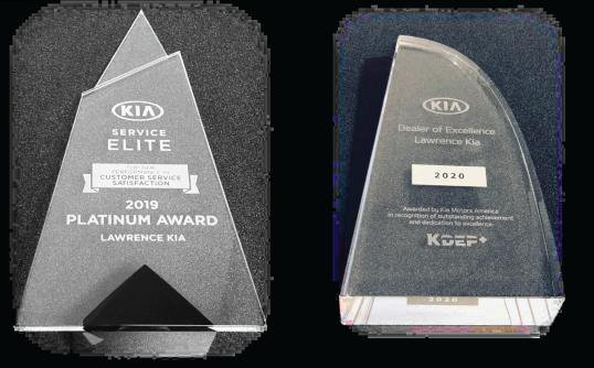 Lawrence Kia Service Elite Award 5 YRS in a Row