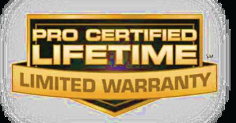 Certified Lifetime Warranty