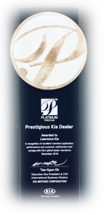 Lawrence Kia Won Kia Platinum Prestige Award Twice
