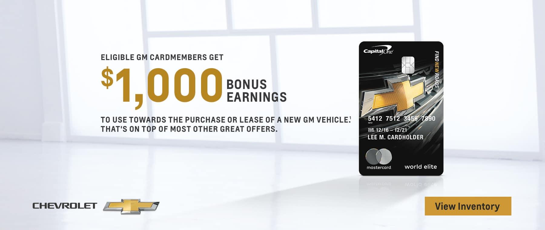GM $1000 Bonus Earnings