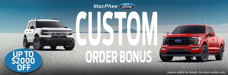 MacPhee Ford Order Bonus Slider