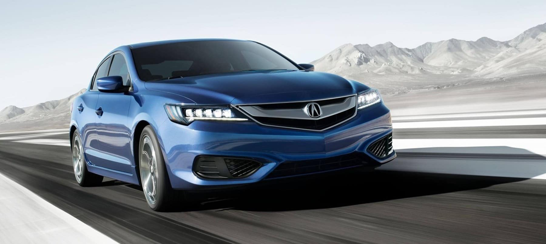 Blue 2018 Acura ILX Driving