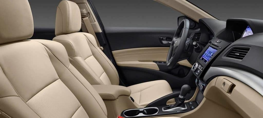 Leather seats in the 2018 Acura ILX.
