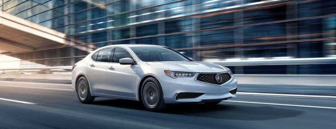 2019 Acura TLX in Platinum White