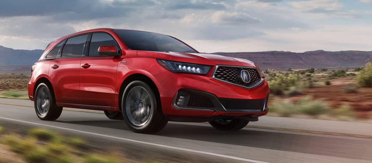 Acura MDX A-Spec in Performance Red Pearl