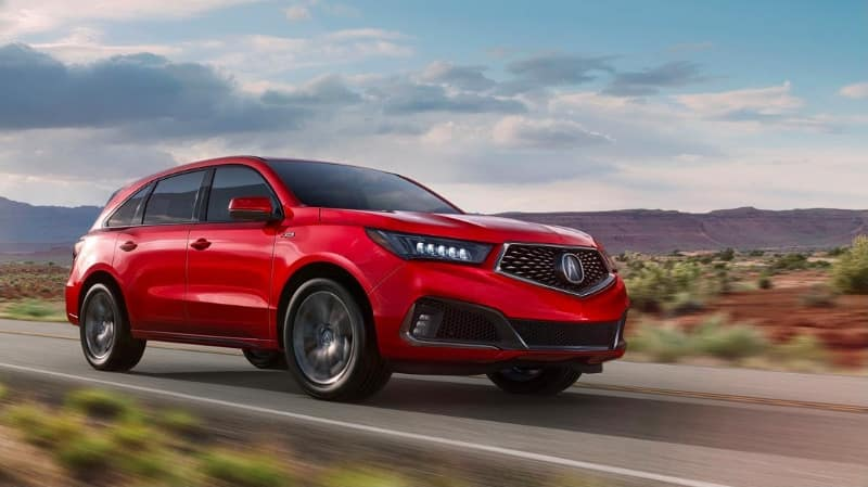 2019 Acura MDX with A-Spec in Red Pearl