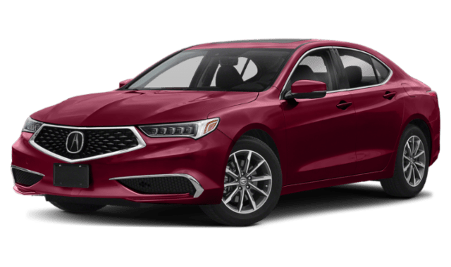 2019 Acura TLX with a Red Exterior