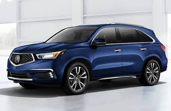 Blue 2020 Acura MDX