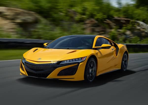2020 Acura NSX in yellow