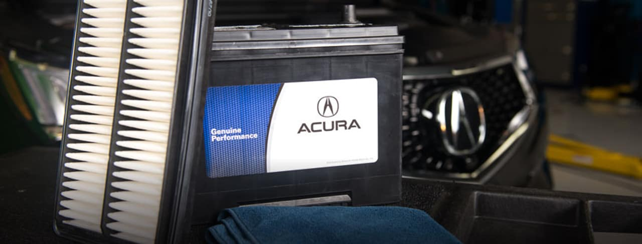 acura parts - battery and filter