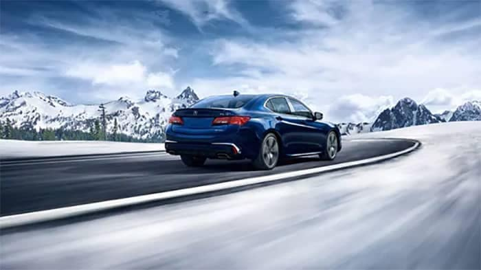 Acura TLX Driving in Snow