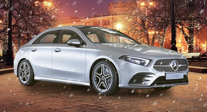 2019 A 220 4MATIC Sedan with Premium + Sport + Navigation Packages, Total Price $47,702
