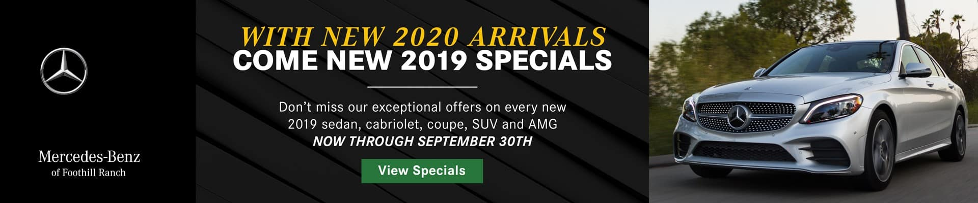 View Our Specials Banner