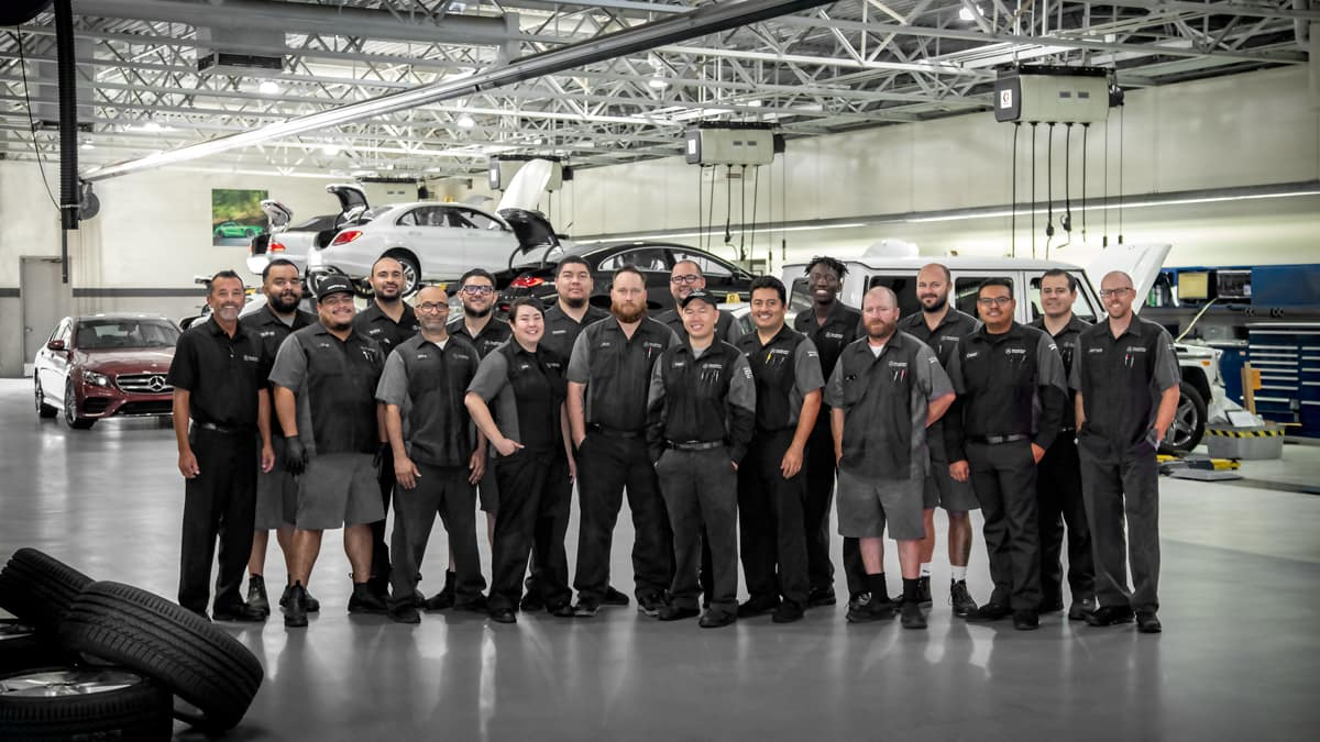 Mercedes-Benz of Foothill Ranch service staff