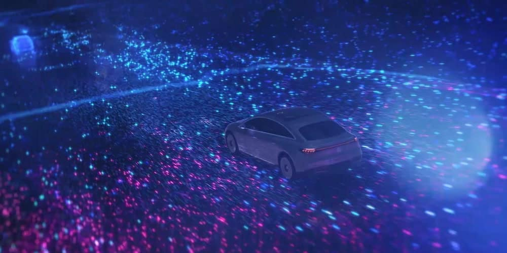 2022 Mercedes-Benz Vision EQS Driving
