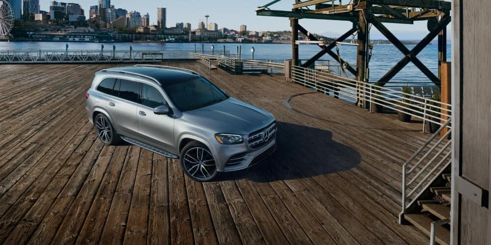 2021 Mercedes-Benz GLS parked on pier