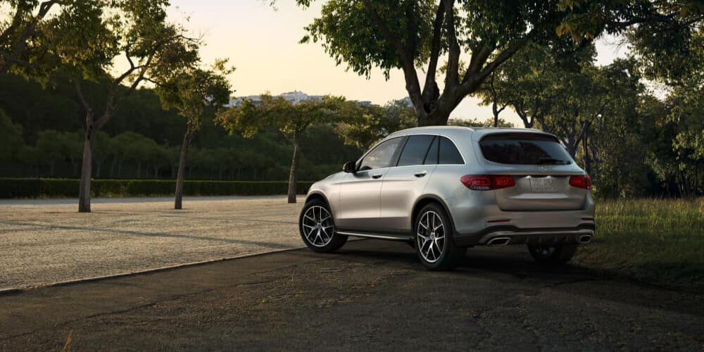 2021 Mercedes-Benz GLC parked next to a tree