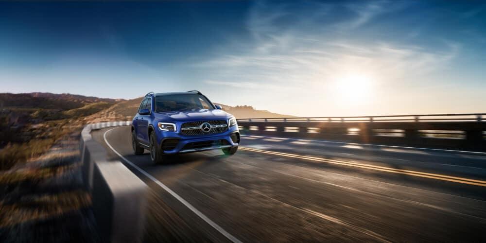 2021 Mercedes-Benz GLB on coastal highway