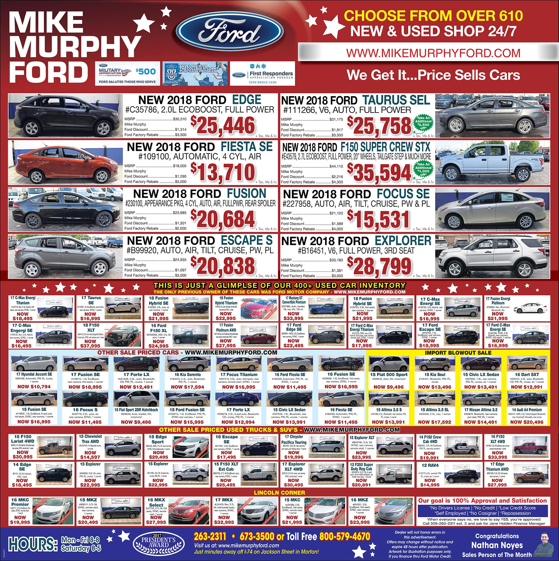 newspaper ad morton mike murphy ford