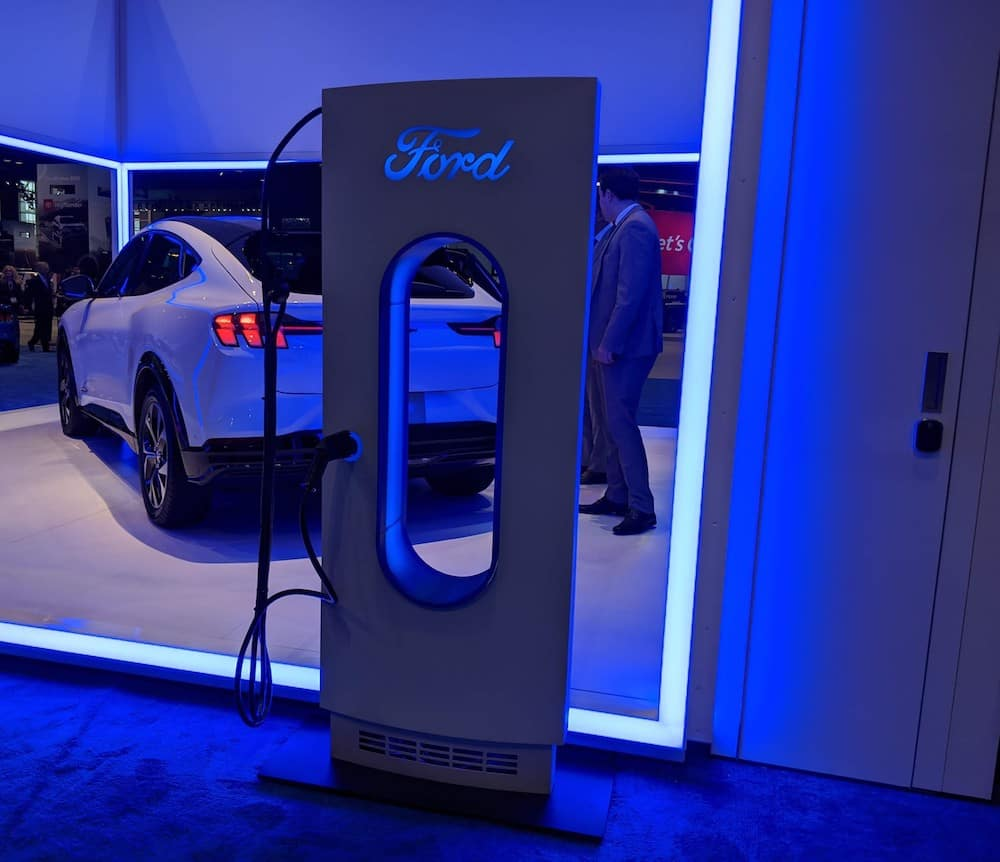 Chicago Auto Show Ford Electric Charging Station
