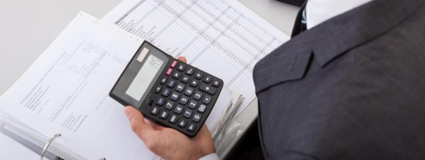 Successful accountant working with financial data in the office