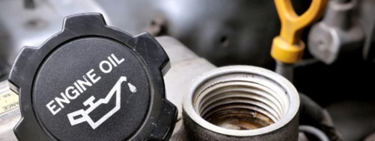 Engine oil cap off