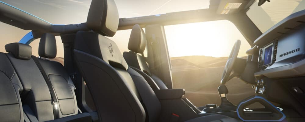 2021 Ford Bronco Interior with backseat
