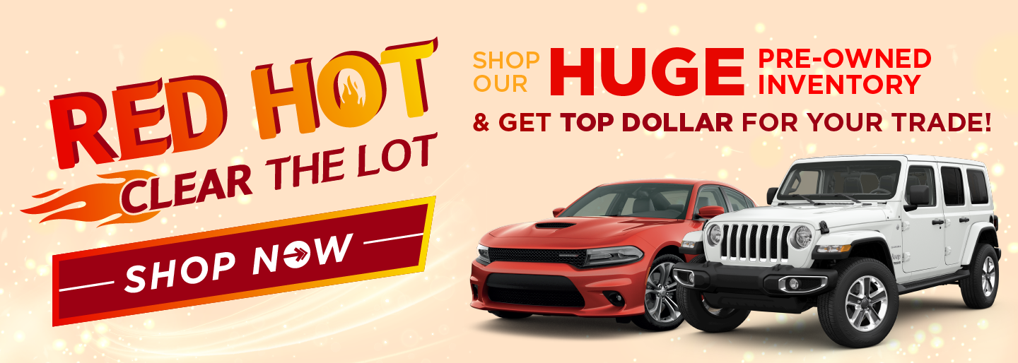 Red Hot Clear the Lot Sales banner