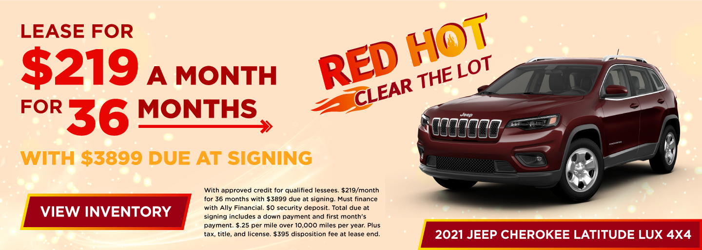 Lease for $219 a month for 36 months