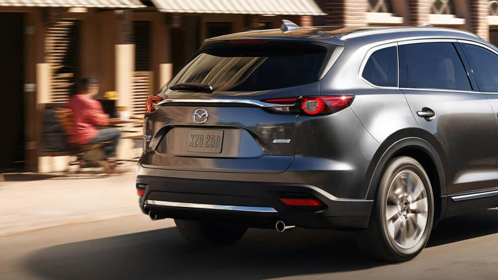 2018 Mazda CX-9 driving rear view