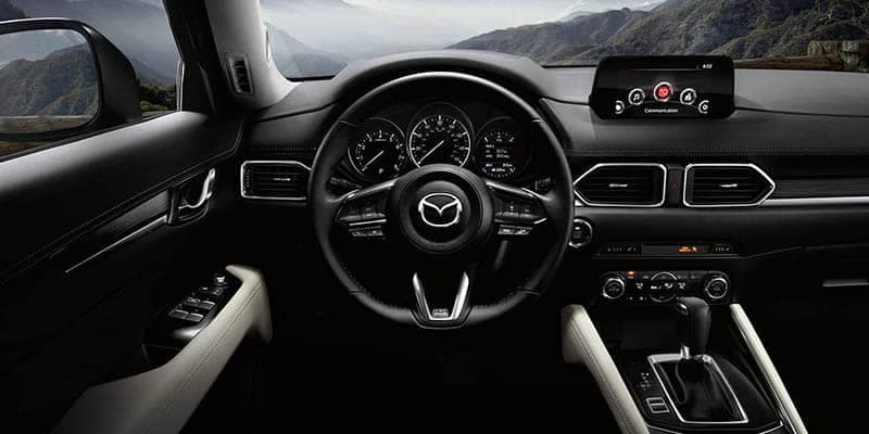 2018 Mazda CX-5 Interior Dashboard and Steering Wheel