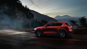 2018 Mazda CX-5 Driving at Night on Curved Mountain Roads