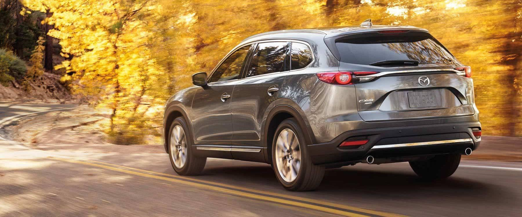 2018 Mazda CX-9 AWD Driving Through Curved Wooded Roads