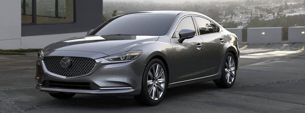 Exterior view of Mazda6 in grey.