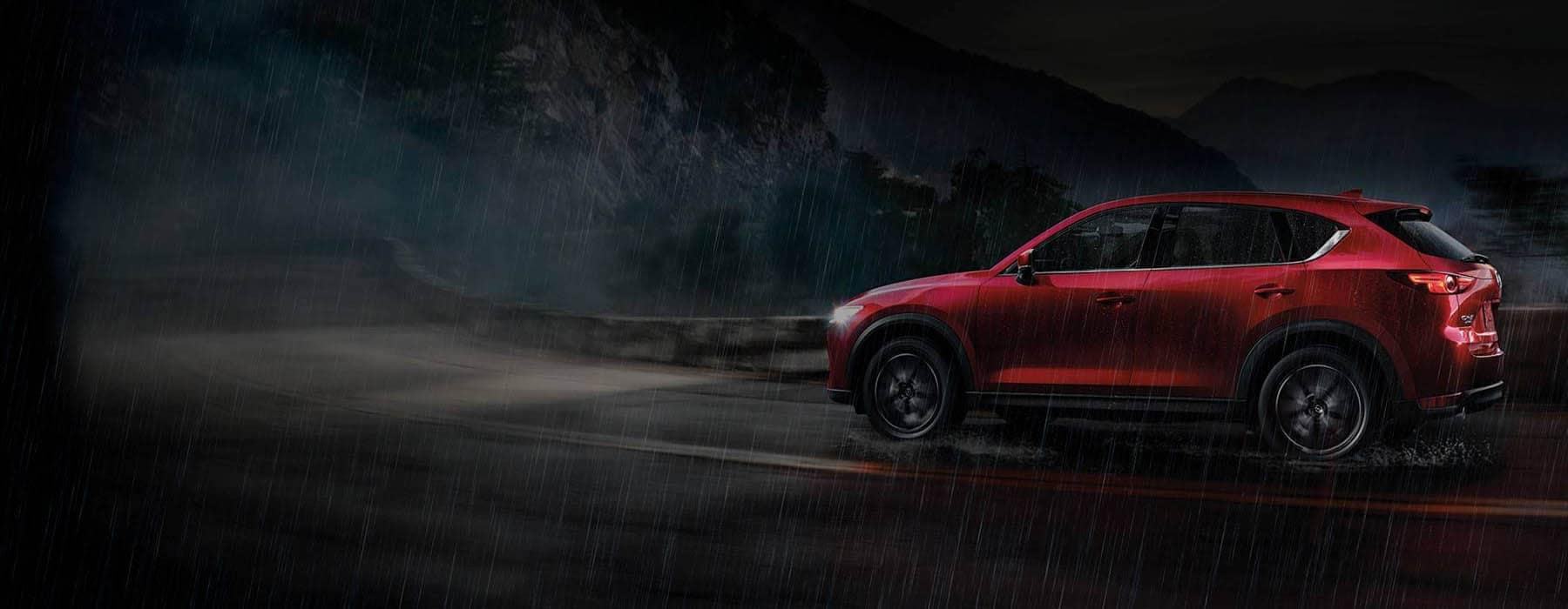 Mazda CX-5 Driving in the Rain