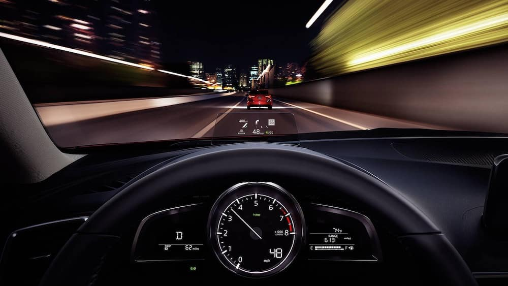 2018 Mazda3 Sedan dashboard with head up display