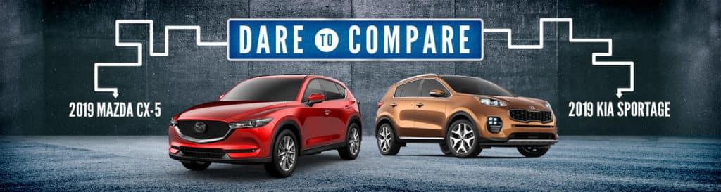 Dare To Compare 2019 Mazda CX-5 vs Kia Sportage Gastonia, NC