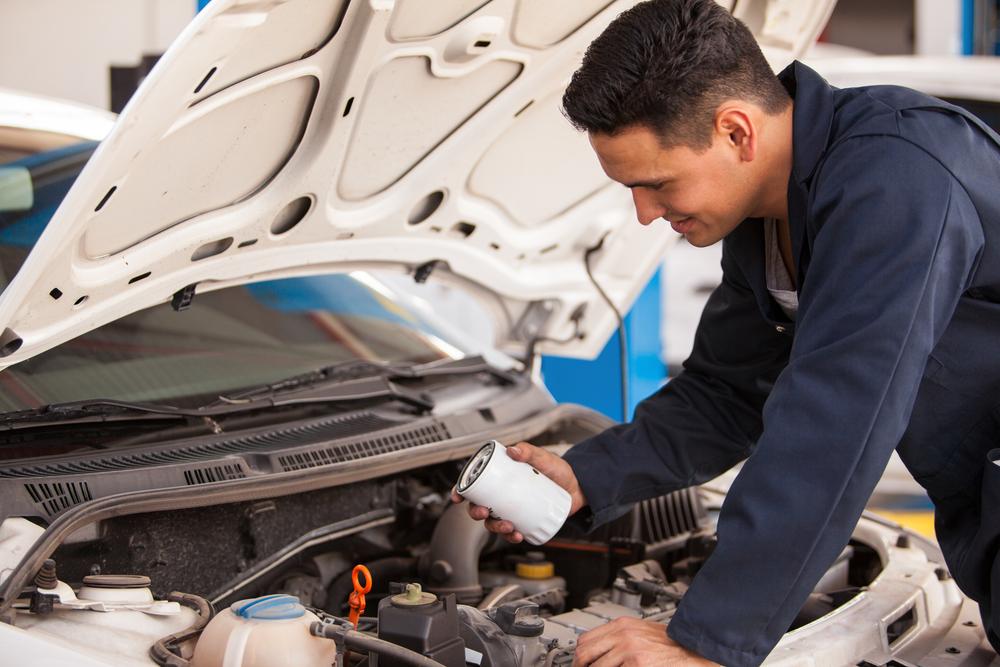 Maintenance on Vehicle