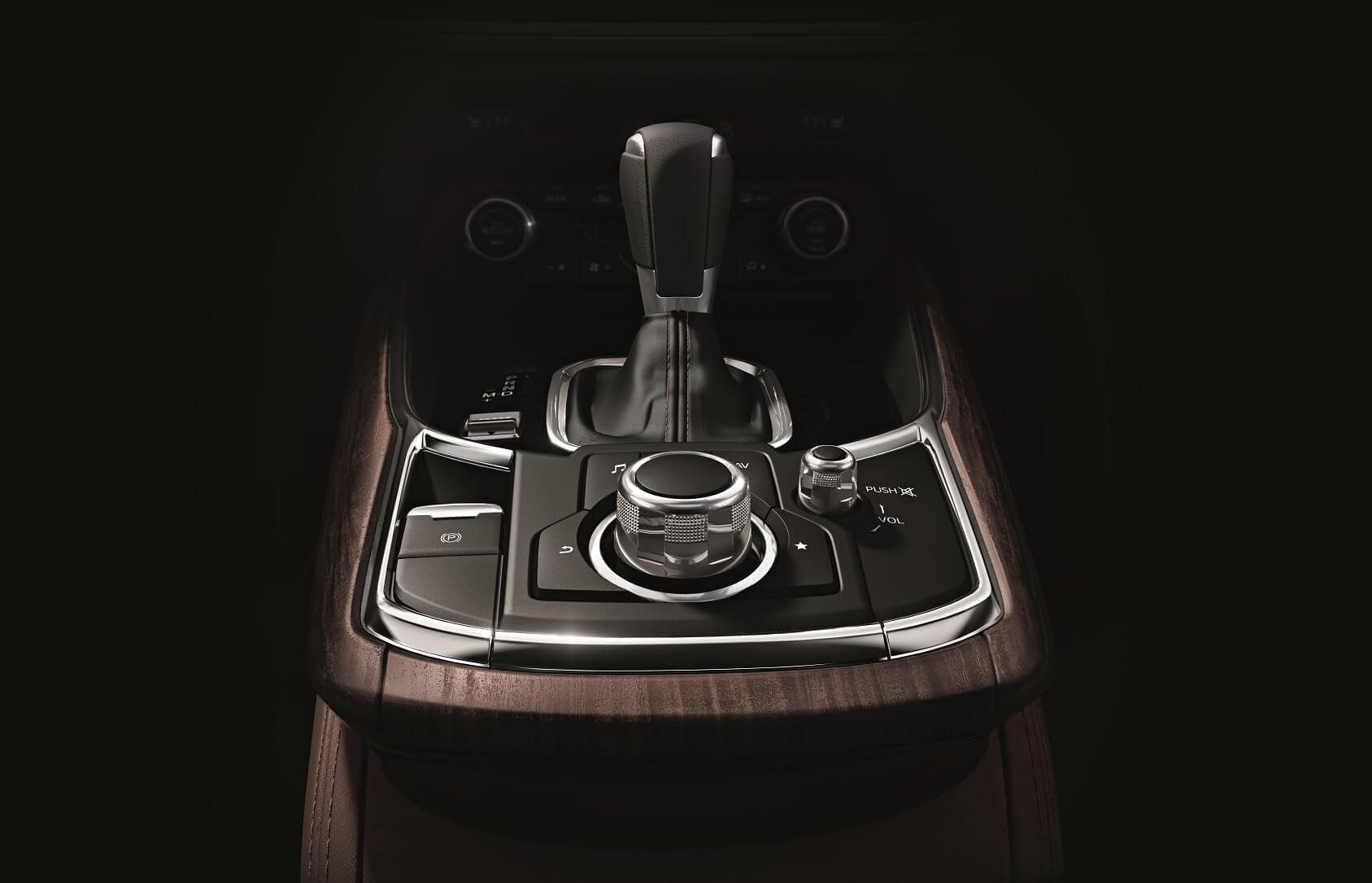 Mazda CX-9 Interior with Leather Wrapped Shift Knob