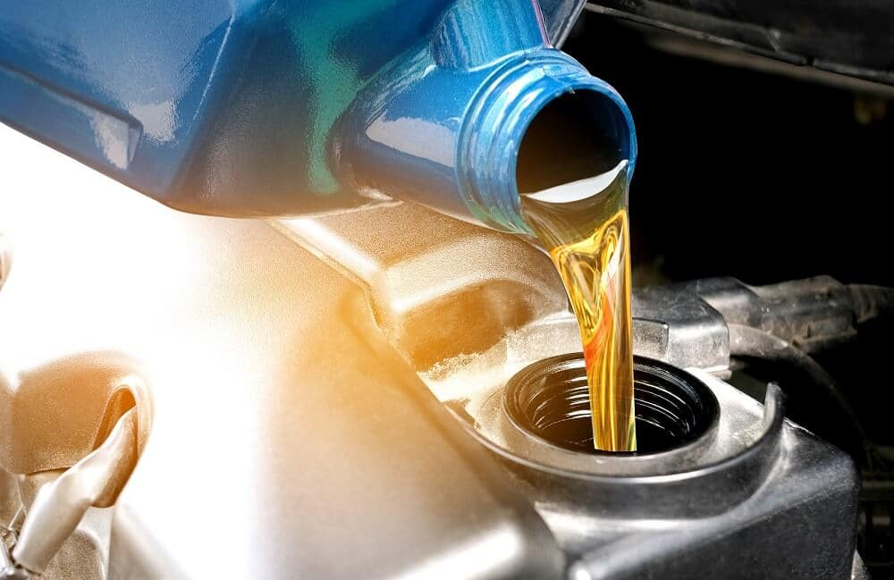 Pouring New Motor Oil