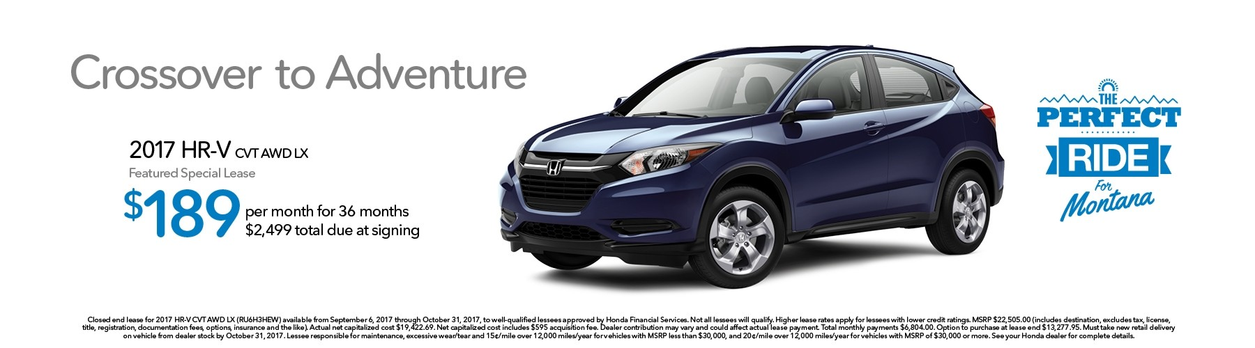 2017 honda hr v montana honda dealers for Montana honda dealers