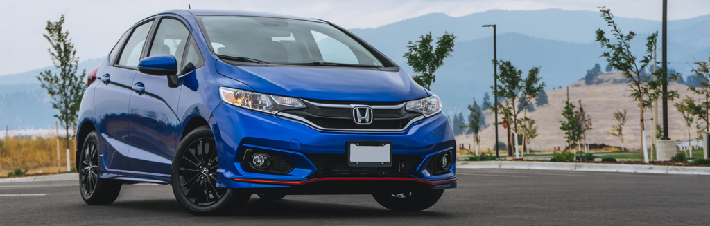 2018 Honda Fit Sport parked in the mountains