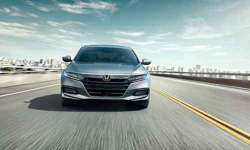 2018 Honda Accord driving front end view