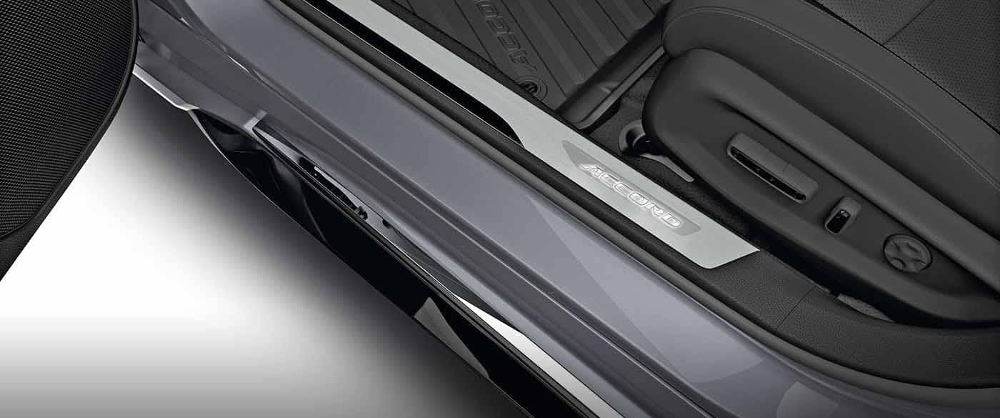 Illuminated Door Sill of a 2018 Honda Accord