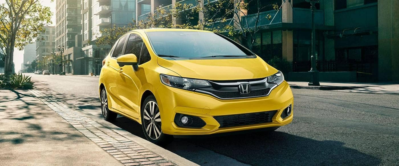 2018 Honda Fit parked on the street