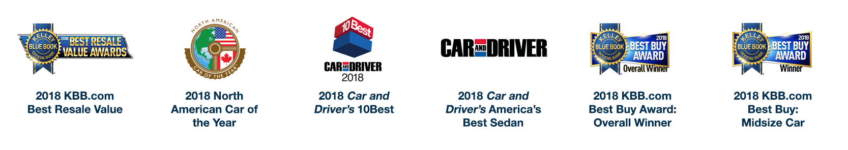 2018 Honda Accord Awards
