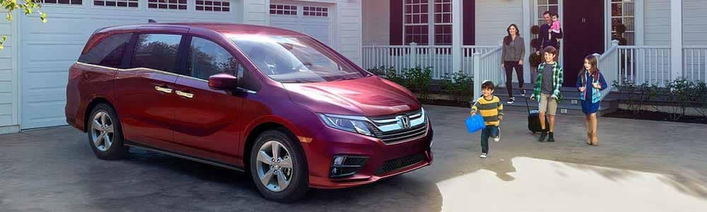 2018 Honda Odyssey parked outside home in the driveway
